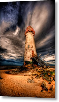 Talacre Lighthouse Metal Print by Adrian Evans