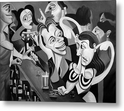 Talking Sweet Nothings At The Bar Metal Print by Anthony Falbo