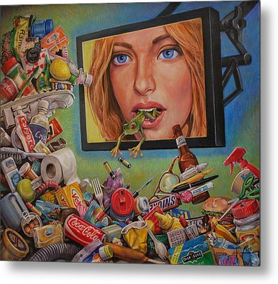Talking Trash Metal Print by Henry David Potwin