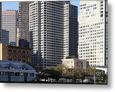 Tall Buildings Of San Francisco - 5d20505 Metal Print by Wingsdomain Art and Photography