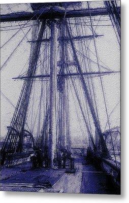 Tall Ship 2 Metal Print by Jack Zulli