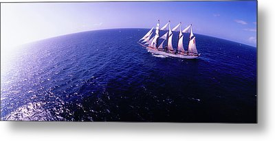 Tall Ship In The Sea, Puerto Rico, Usa Metal Print by Panoramic Images