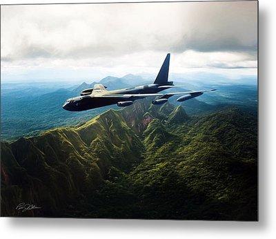 Tall Tail B-52 Metal Print by Peter Chilelli