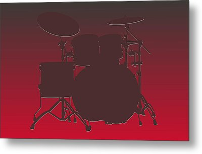 Tampa Bay Buccaneers Drum Set Metal Print by Joe Hamilton
