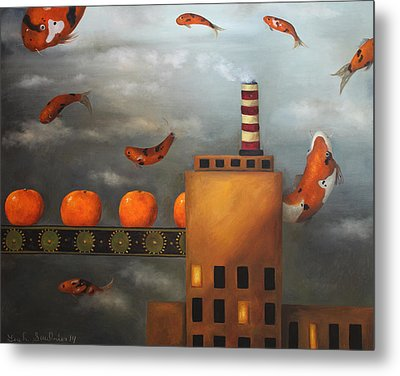 Tangerine Dream Metal Print by Leah Saulnier The Painting Maniac