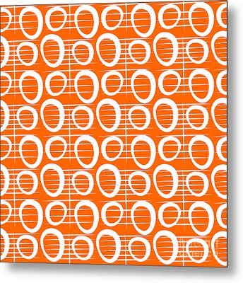 Tangerine Loop Metal Print by Linda Woods