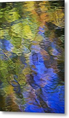 Tangerine Twist Mosaic Abstract Art Metal Print by Christina Rollo