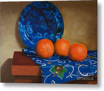 Tangerines Metal Print by Mikhail Kovalev
