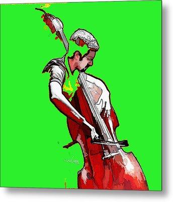 Tango Argentino - The Musician Metal Print by Reno Graf von Buckenberg
