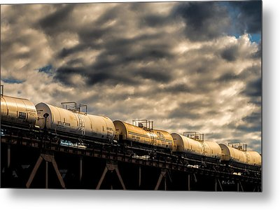 Tank Cars Metal Print by Bob Orsillo