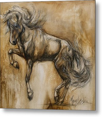Tantrum Metal Print by Mary Leslie