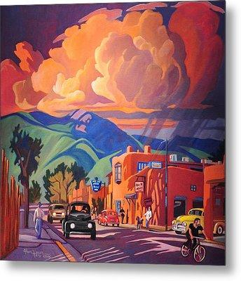 Taos Inn Monsoon Metal Print by Art James West
