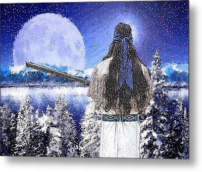Taos Mountain Man Metal Print by Roger D Hale