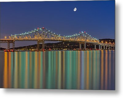 Tappan Zee Bridge Reflections Metal Print by Susan Candelario