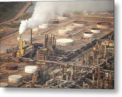 Tar Sands Deposits Mined Syncrude Mine Metal Print by Ashley Cooper