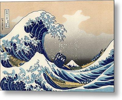 Tardis V Katsushika Hokusai Metal Print by GP Abrajano
