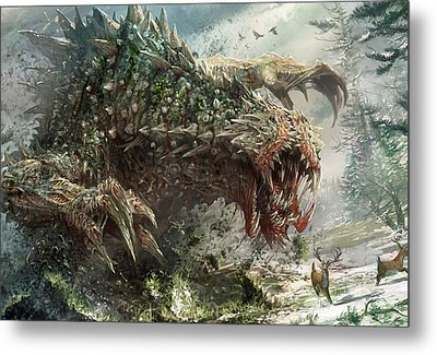 Tarmogoyf Reprint Metal Print by Ryan Barger