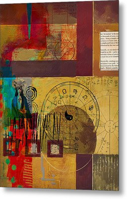 Tarot Card Abstract 003 Metal Print by Corporate Art Task Force