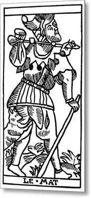 Tarot Card The Fool Metal Print by Granger