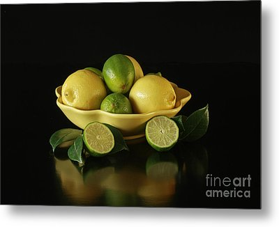 Tart And Tasty With Lemon And Lime Metal Print by Inspired Nature Photography Fine Art Photography