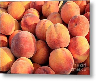 Tasty Peaches Metal Print by Carol Groenen