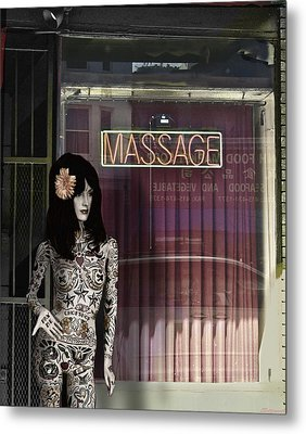 Tattoo And Massage Metal Print by Larry Butterworth