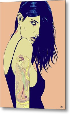 Tattoo Metal Print by Giuseppe Cristiano