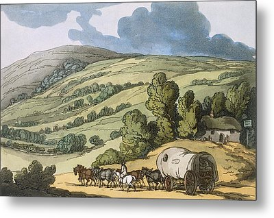 Taunton Vale, Somersetshire Metal Print by Thomas Rowlandson