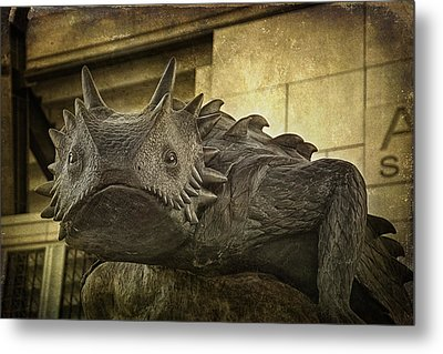 Tcu Horned Frog Metal Print by Joan Carroll