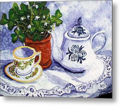 Tea For Nancy Metal Print by Barbara McDevitt
