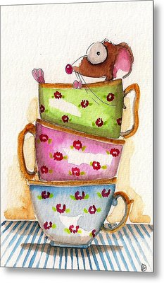 Tea For One Metal Print by Lucia Stewart