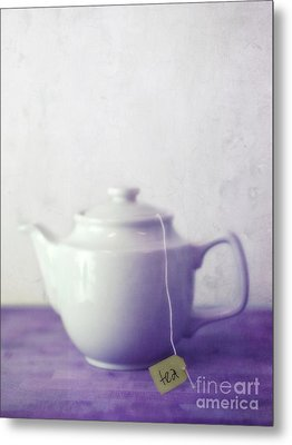 Tea Jug Metal Print by Priska Wettstein