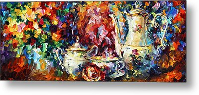Tea Time 2 Metal Print by Leonid Afremov