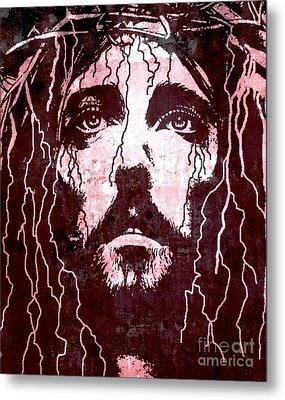Tears Of Jesus Metal Print by Mike Grubb