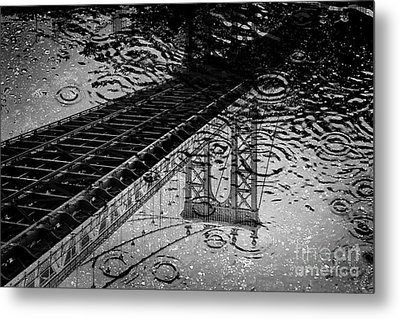 Tears Of New York Metal Print by Az Jackson
