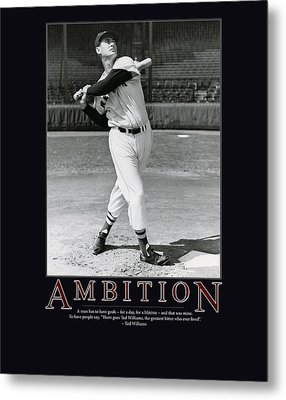 Ted Williams Ambition Metal Print by Retro Images Archive