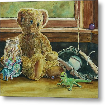 Teddy And Friends Metal Print by Jenny Armitage