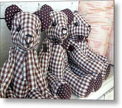 Teddy Bear Triplets Metal Print by Ian Scholan