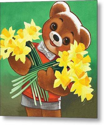 Teddy Bear Metal Print by William Francis Phillipps