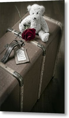 Teddy Wants To Travel Metal Print by Joana Kruse