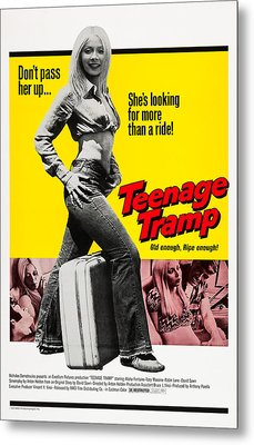 Teenage Tramp, Alisha Fontaine, 1973 Metal Print by Everett