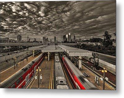 Tel Aviv Central Railway Station Metal Print by Ron Shoshani