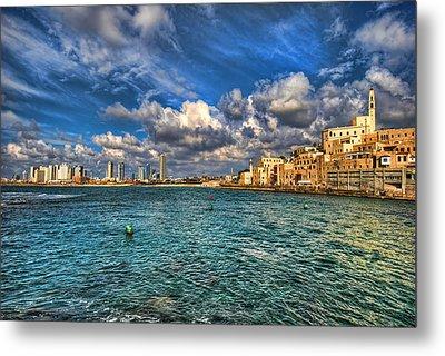 Tel Aviv Jaffa Shoreline Metal Print by Ron Shoshani