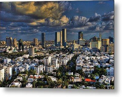 Tel Aviv Skyline Fascination Metal Print by Ron Shoshani
