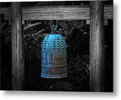 Temple Bell - Buddhist Photography By William Patrick And Sharon Cummings  Metal Print by Sharon Cummings