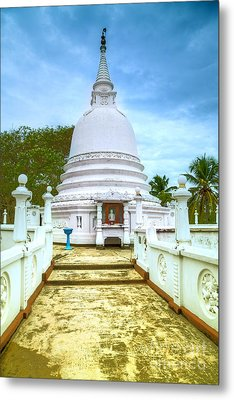 temple complex at the tropical island Sri Lanka Metal Print by Regina Koch