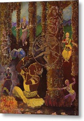 Temple Dance Metal Print by Alika Kumar