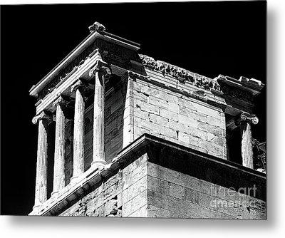 Temple Of Athena Nike Metal Print by John Rizzuto
