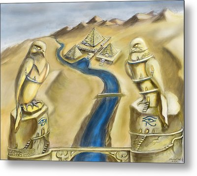 Temple Of Horus Two Out Of Three Metal Print by Michael Cook