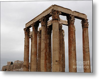 Temple Of Olympian Zeus Metal Print by Bob Christopher